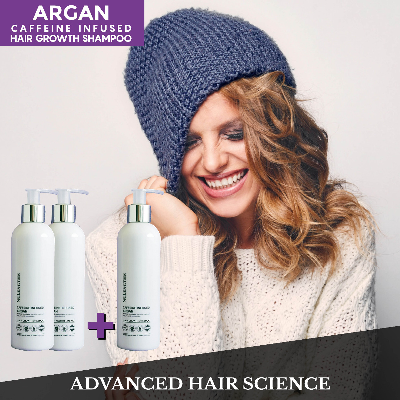 *Limited Special* Buy 2 get 1 Free Caffeine Infused Argan Hair Growth Shampoo